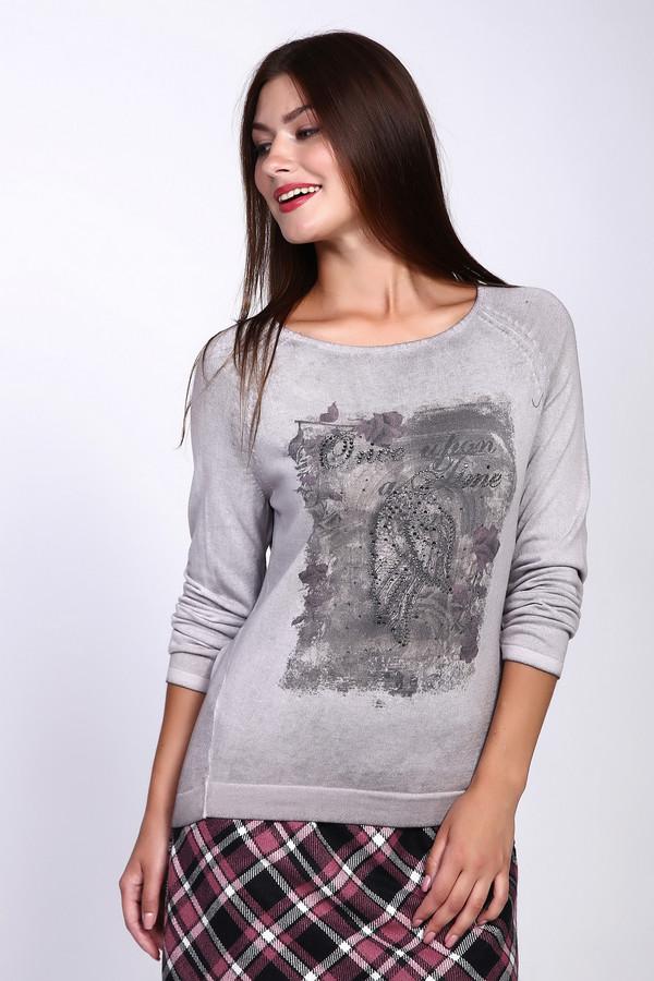 Пуловер MonariПуловеры<br><br><br>Размер RU: 42<br>Пол: Женский<br>Возраст: Взрослый<br>Материал: полиэстер 35%, хлопок 65%<br>Цвет: Серый