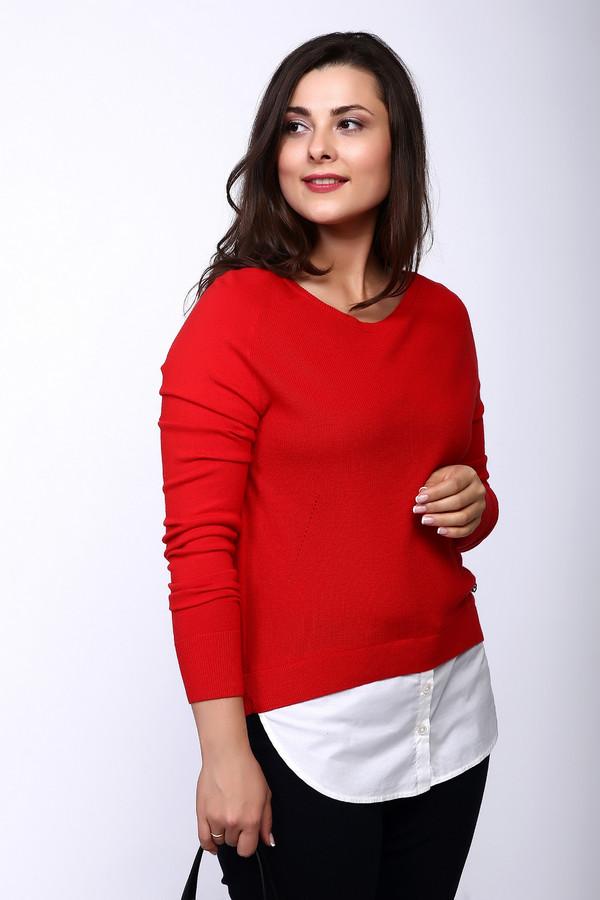 Пуловер OuiПуловеры<br><br><br>Размер RU: 50<br>Пол: Женский<br>Возраст: Взрослый<br>Материал: хлопок 57%, вискоза 30%, шелк 10%, кашемир 3%<br>Цвет: Красный