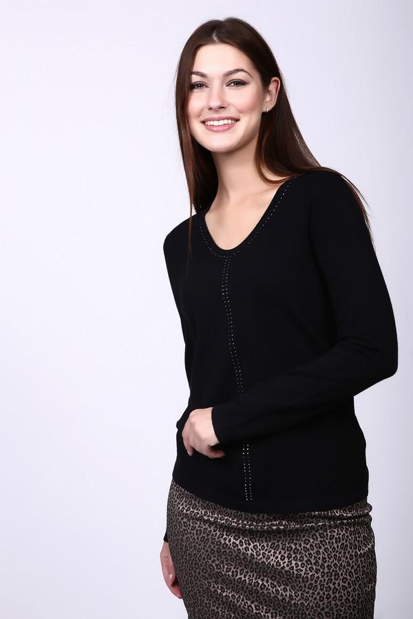 Пуловер Gerry WeberПуловеры<br><br><br>Размер RU: 46<br>Пол: Женский<br>Возраст: Взрослый<br>Материал: полиамид 20%, вискоза 80%<br>Цвет: Чёрный