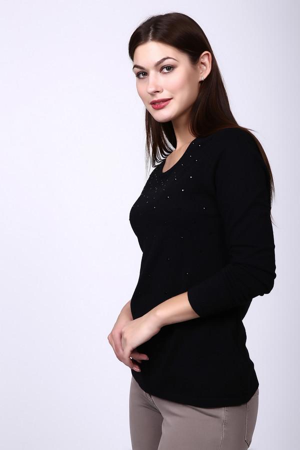 Пуловер Gerry WeberПуловеры<br><br><br>Размер RU: 44<br>Пол: Женский<br>Возраст: Взрослый<br>Материал: хлопок 30%, эластан 2%, полиамид 23%, вискоза 45%<br>Цвет: Чёрный