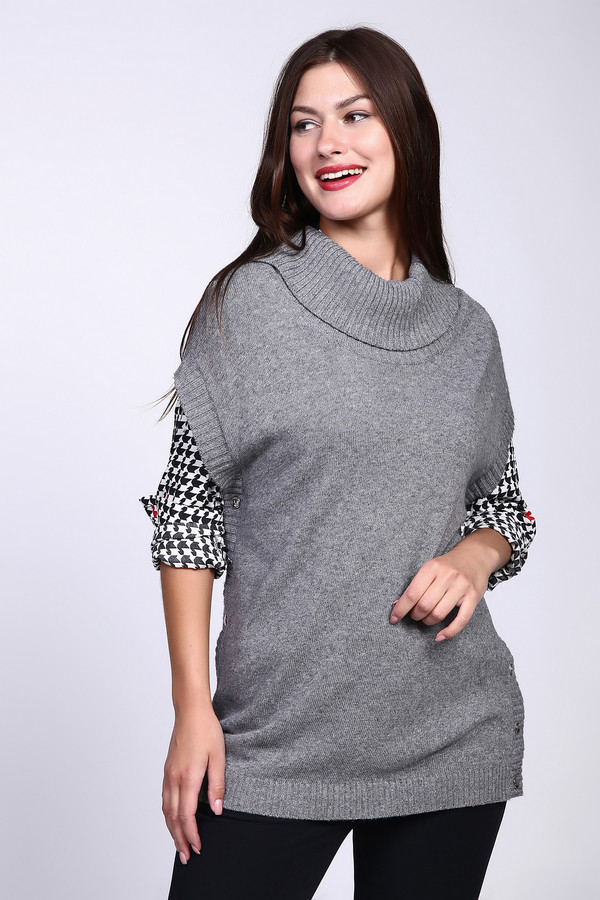 Пуловер Gerry WeberПуловеры<br><br><br>Размер RU: 42<br>Пол: Женский<br>Возраст: Взрослый<br>Материал: полиамид 25%, вискоза 45%, хлопок 27%, кашемир 3%<br>Цвет: Серый