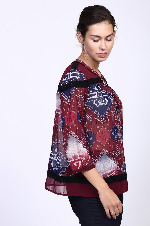 Купить Блузa s.Oliver DENIM, Индонезия, Бордовый, полиэстер 100%