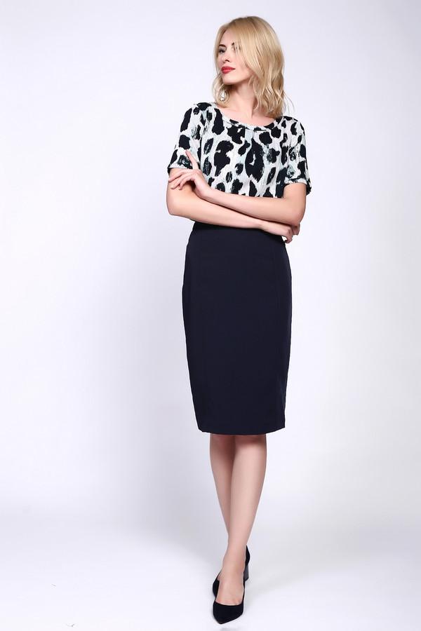 женская классические юбка just valeri, синяя