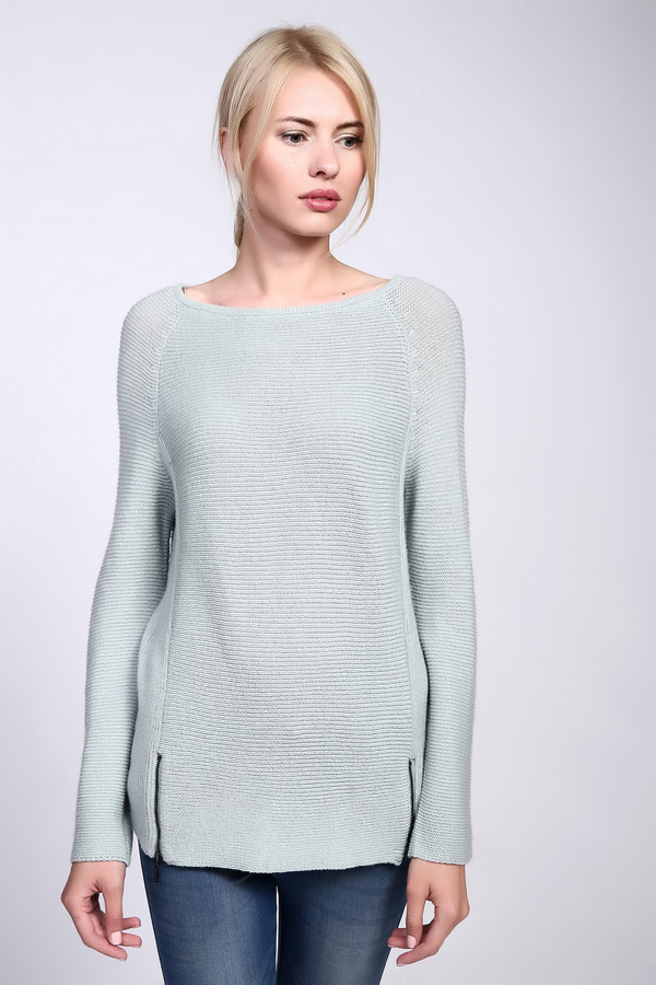 женский пуловер comma, зеленый