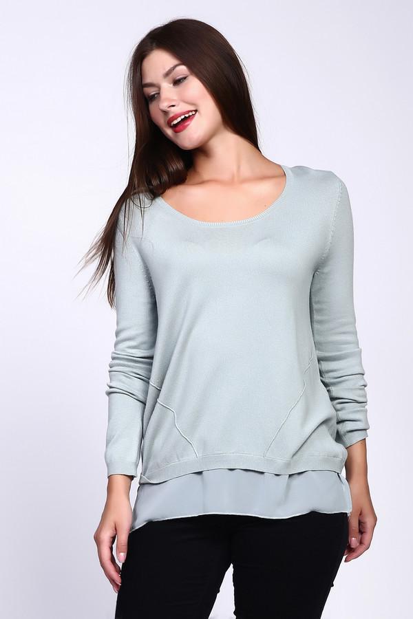 Пуловер CommaПуловеры<br><br><br>Размер RU: 44<br>Пол: Женский<br>Возраст: Взрослый<br>Материал: полиамид 19%, вискоза 81%<br>Цвет: Зелёный