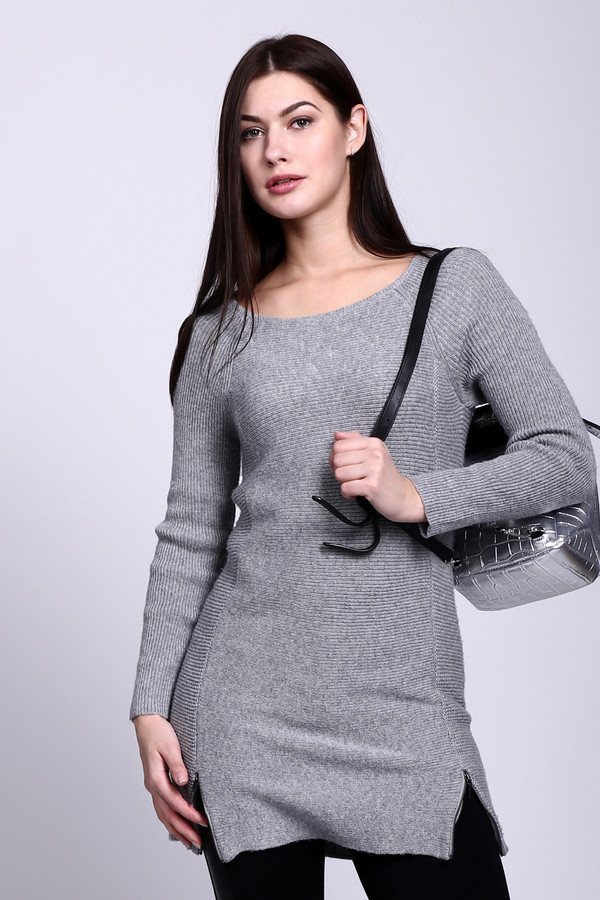 Пуловер CommaПуловеры<br><br><br>Размер RU: 48<br>Пол: Женский<br>Возраст: Взрослый<br>Материал: полиамид 20%, полиэстер 60%, шерсть 20%<br>Цвет: Серый