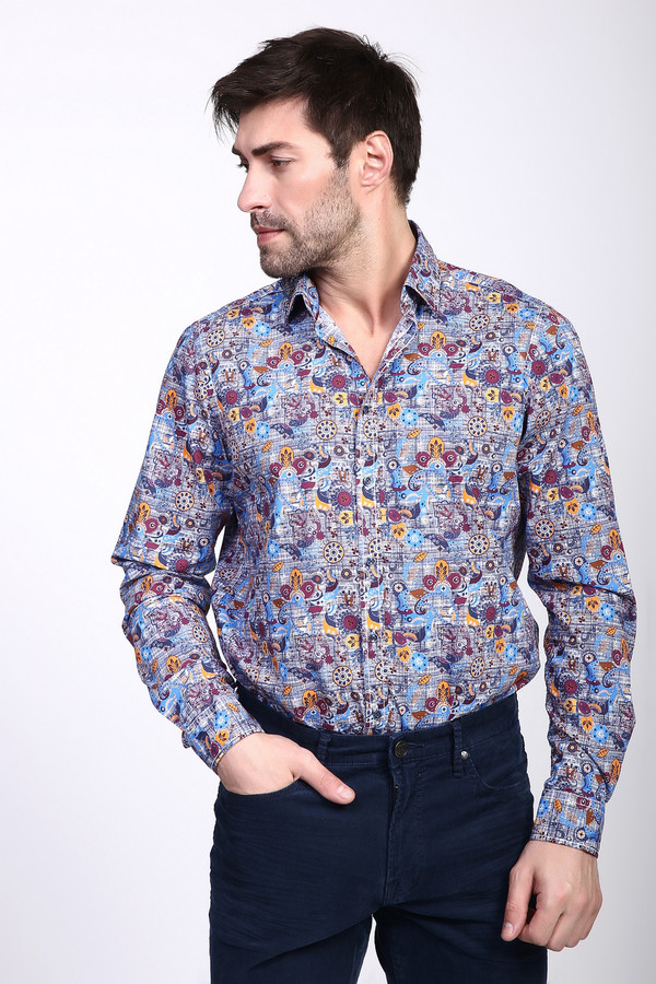 Рубашка с длинным рукавом VentiДлинный рукав<br><br><br>Размер RU: 43-44<br>Пол: Мужской<br>Возраст: Взрослый<br>Материал: хлопок 100%<br>Цвет: Разноцветный
