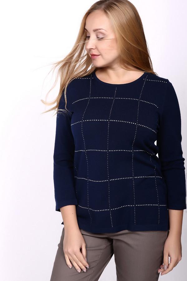 Пуловер Rabe collectionПуловеры<br><br><br>Размер RU: 46<br>Пол: Женский<br>Возраст: Взрослый<br>Материал: полиамид 15%, полиакрил 40%, модал 45%<br>Цвет: Синий