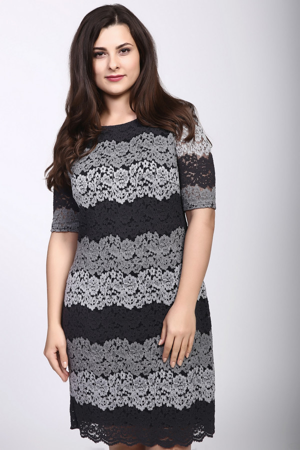 Платье Betty BarclayПлатья<br><br><br>Размер RU: 52<br>Пол: Женский<br>Возраст: Взрослый<br>Материал: полиамид 45%, эластан 3%, полиэстер 25%, хлопок 27%<br>Цвет: Разноцветный