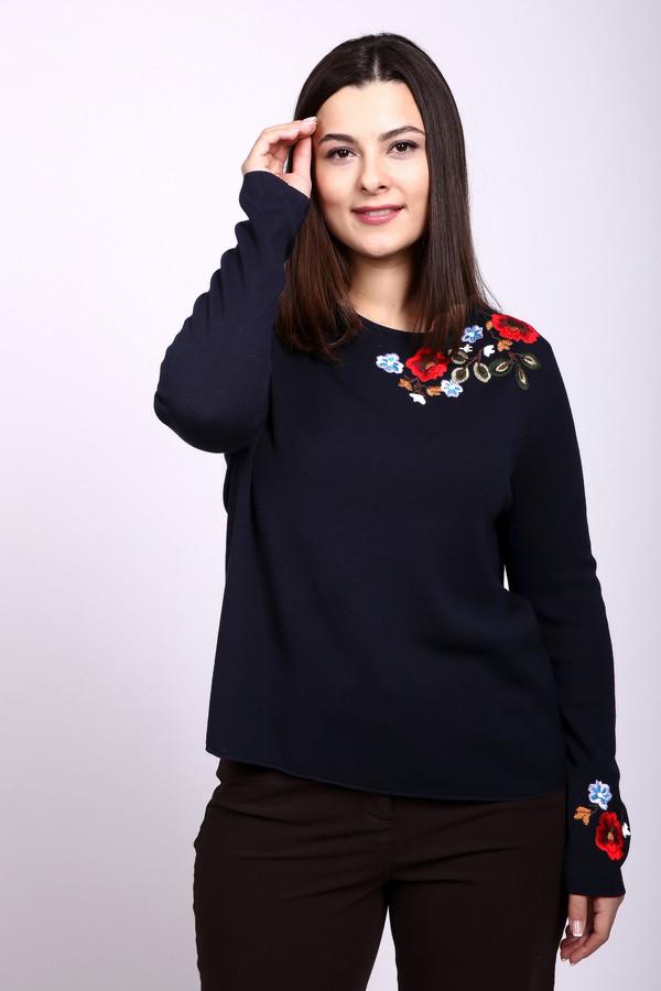 Пуловер BaslerПуловеры<br>Темно-синий пуловер от немецкого бренда Basler прямого кроя выполнен из приятного на ощупь трикотажа. Изделие дополнено круглым воротом и длинными рукавами. Зона декольте и манжета оформлены красочной вышивкой. Такой пуловер добавит женственности любому образу с чем бы вы его несочетали.<br><br>Размер RU: 56<br>Пол: Женский<br>Возраст: Взрослый<br>Материал: вискоза 90%, полибутилентерефталат 10%<br>Цвет: Синий