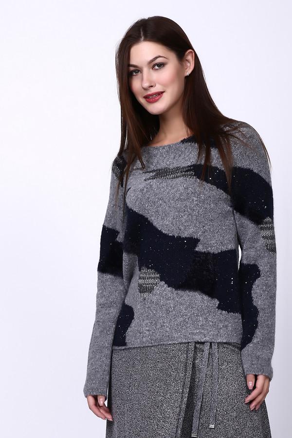 Пуловер LecomteПуловеры<br><br><br>Размер RU: 48<br>Пол: Женский<br>Возраст: Взрослый<br>Материал: хлопок 18%, полиамид 37%, полиэстер 13%, полиакрил 23%, шерсть 9%<br>Цвет: Серый