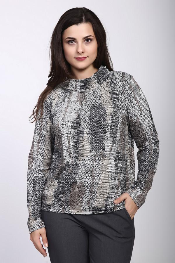 Пуловер ErfoПуловеры<br><br><br>Размер RU: 50<br>Пол: Женский<br>Возраст: Взрослый<br>Материал: вискоза 50%, эластан 4%, полиэстер 46%<br>Цвет: Серый