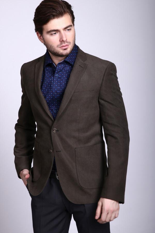 Пиджак PezzoПиджаки<br>Пиджак мужской коричневого цвета от бренда Pezzo. Модель выполнена прямым фасоном. Изделие дополнено откладным воротом, застежка на пуговицы, накладными карманами, верхним, прорезным карманом, задними разрезами, втачными, длинными рукавами, на лацканах пуговицы. Ткань состоит из 90% полиэстера, 10% нейлона. Подкладка - 100% полиэстер. Комбинировать можно с различными рубашками, брюками.