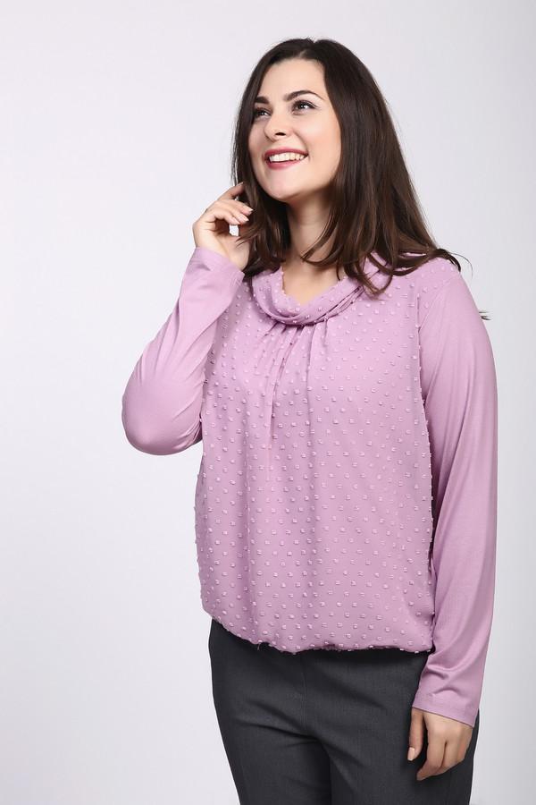 Блузa Frank Walder, Румыния, Розовый, вискоза 93%, эластан 7%  - купить со скидкой