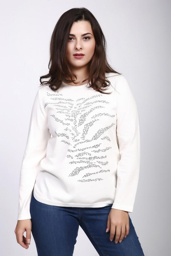 Пуловер Rabe collectionПуловеры<br><br><br>Размер RU: 52<br>Пол: Женский<br>Возраст: Взрослый<br>Материал: полиэстер 1%, вискоза 2%, полиамид 19%, полиакрил 37%, модал 41%<br>Цвет: Белый