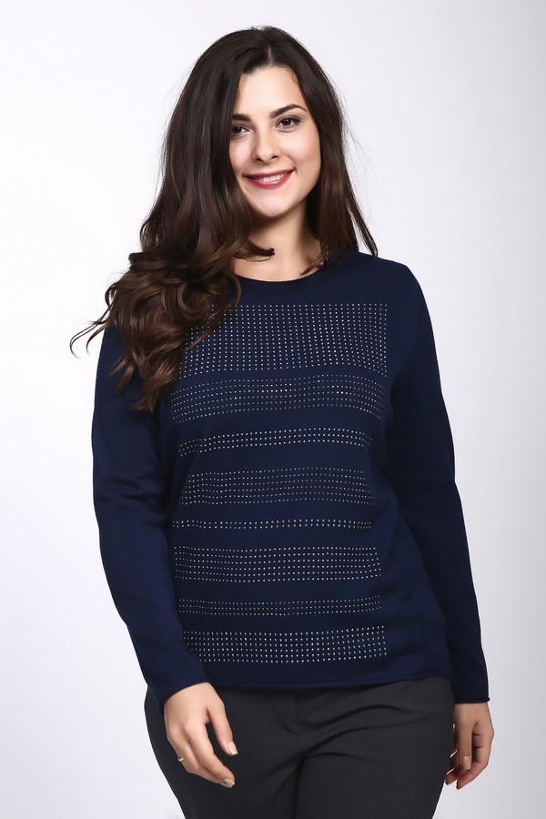 Пуловер Rabe collectionПуловеры<br><br><br>Размер RU: 54<br>Пол: Женский<br>Возраст: Взрослый<br>Материал: полиамид 15%, полиакрил 40%, модал 45%<br>Цвет: Синий
