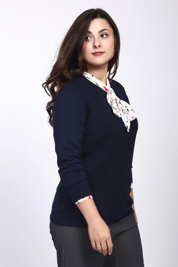 Пуловер Rabe collectionПуловеры<br><br><br>Размер RU: 54<br>Пол: Женский<br>Возраст: Взрослый<br>Материал: полиакрил 49%, полиэстер 2%, хлопок 49%<br>Цвет: Синий