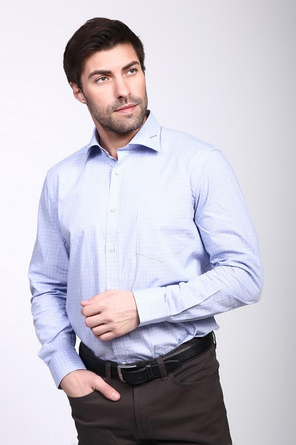 Рубашка с длинным рукавом PezzoДлинный рукав<br><br><br>Размер RU: 43<br>Пол: Мужской<br>Возраст: Взрослый<br>Материал: хлопок 100%<br>Цвет: Голубой