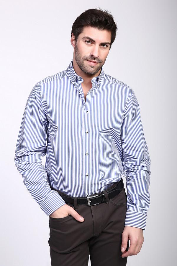 Рубашка с длинным рукавом Just ValeriДлинный рукав<br><br><br>Размер RU: 42<br>Пол: Мужской<br>Возраст: Взрослый<br>Материал: хлопок 100%<br>Цвет: Синий