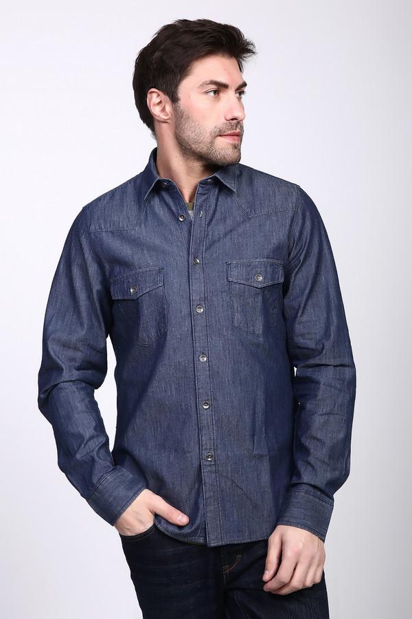 Рубашка с длинным рукавом PezzoДлинный рукав<br><br><br>Размер RU: 54<br>Пол: Мужской<br>Возраст: Взрослый<br>Материал: хлопок 100%<br>Цвет: Синий