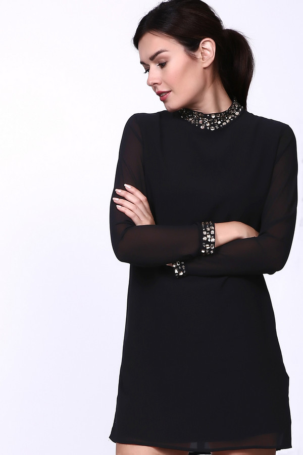 Платье PezzoПлатья<br><br><br>Размер RU: 42<br>Пол: Женский<br>Возраст: Взрослый<br>Материал: полиэстер 100%<br>Цвет: Чёрный