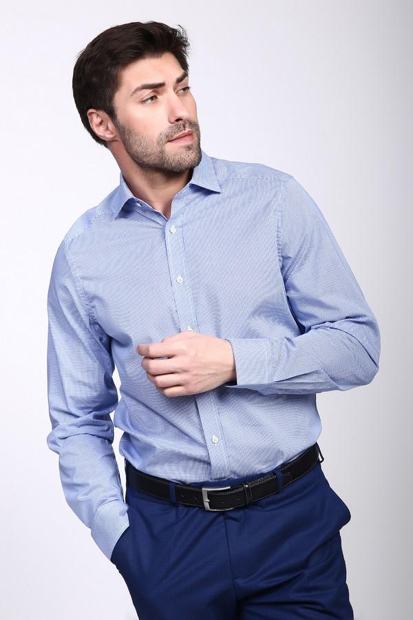 Рубашка с длинным рукавом PezzoДлинный рукав<br><br><br>Размер RU: 41<br>Пол: Мужской<br>Возраст: Взрослый<br>Материал: хлопок 100%<br>Цвет: Голубой