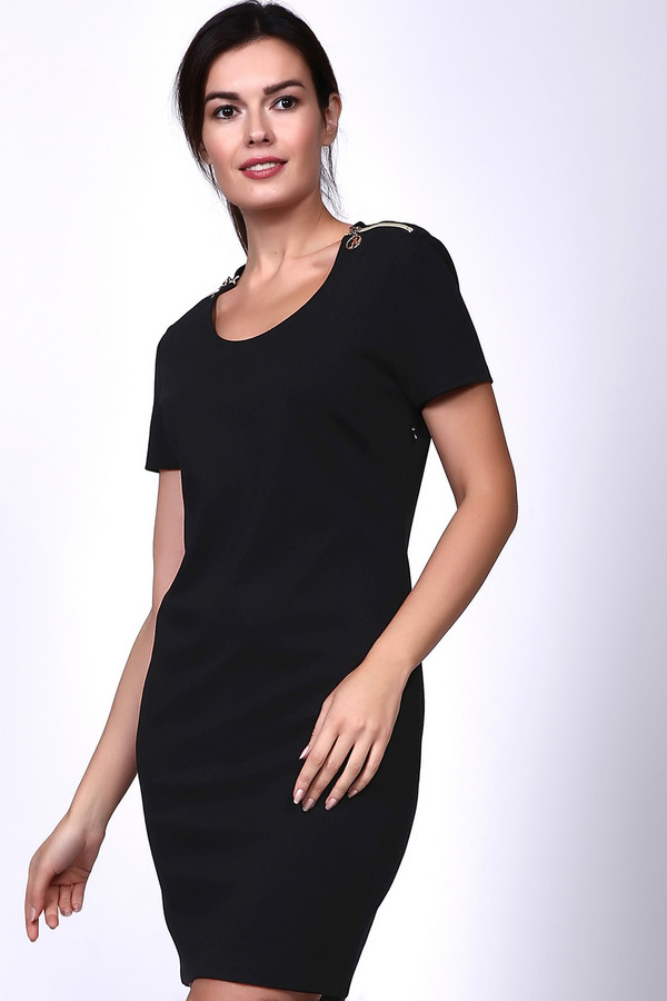 Платье Just ValeriПлатья<br><br><br>Размер RU: 44<br>Пол: Женский<br>Возраст: Взрослый<br>Материал: нейлон 20%, вискоза 74%, спандекс 6%<br>Цвет: Чёрный