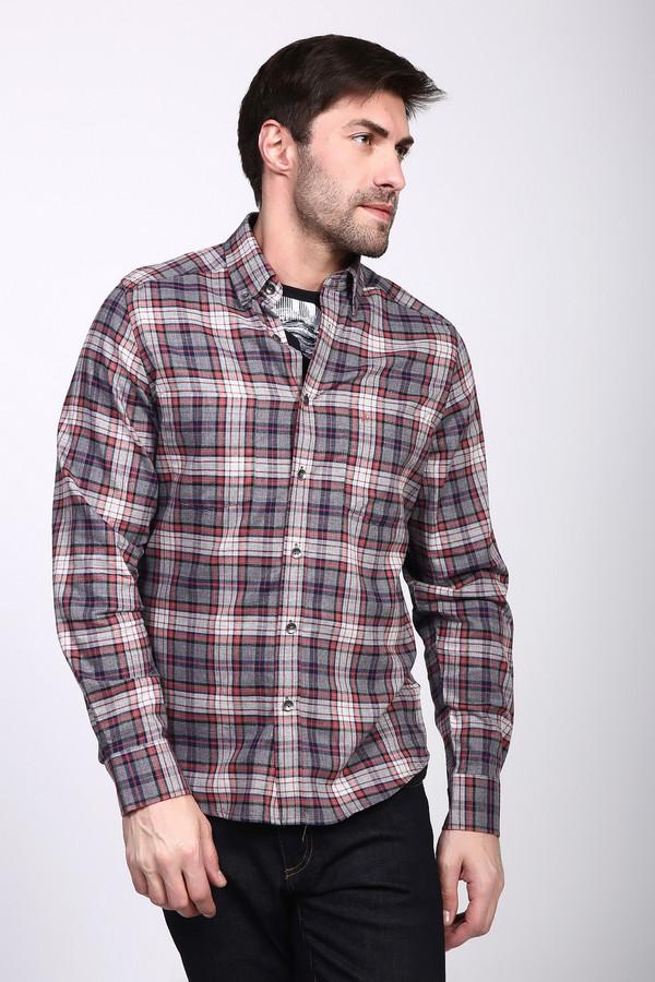 Рубашка с длинным рукавом Just ValeriДлинный рукав<br><br><br>Размер RU: 39<br>Пол: Мужской<br>Возраст: Взрослый<br>Материал: хлопок 100%<br>Цвет: Разноцветный