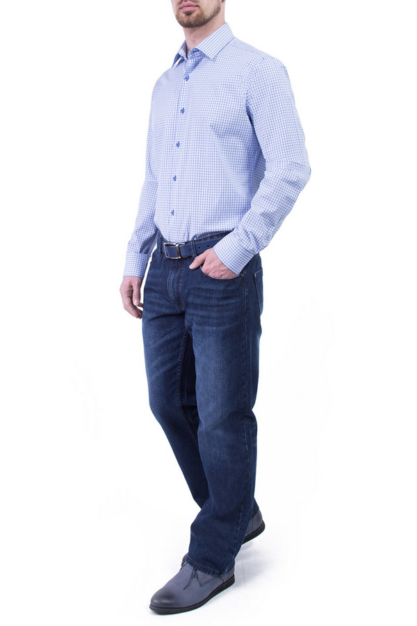 Рубашка Greg HormanРубашки и сорочки<br><br><br>Размер RU: 46<br>Пол: Мужской<br>Возраст: Взрослый<br>Материал: хлопок 100%<br>Цвет: Голубой