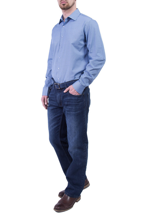 Рубашка Greg HormanРубашки и сорочки<br><br><br>Размер RU: 52<br>Пол: Мужской<br>Возраст: Взрослый<br>Материал: хлопок 100%<br>Цвет: Голубой