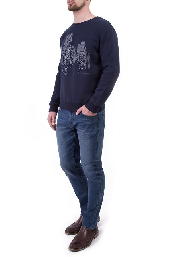 Джемпер Greg HormanДжемперы и Пуловеры<br><br><br>Размер RU: 48<br>Пол: Мужской<br>Возраст: Взрослый<br>Материал: полиэстер 20%, хлопок 80%<br>Цвет: Синий
