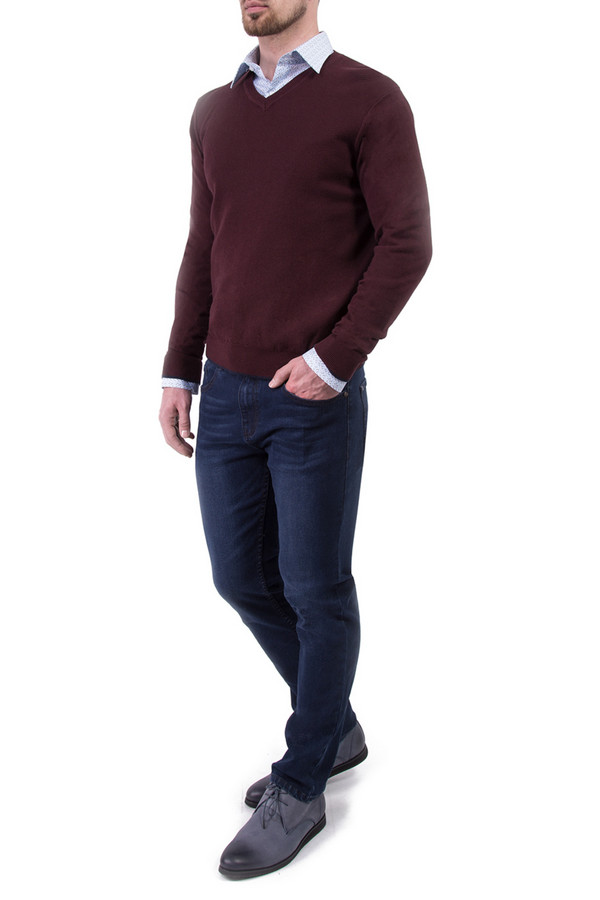 Джемпер Greg HormanДжемперы<br><br><br>Размер RU: 48<br>Пол: Мужской<br>Возраст: Взрослый<br>Материал: хлопок 60%, шерсть 10%, нейлон 30%<br>Цвет: Бордовый