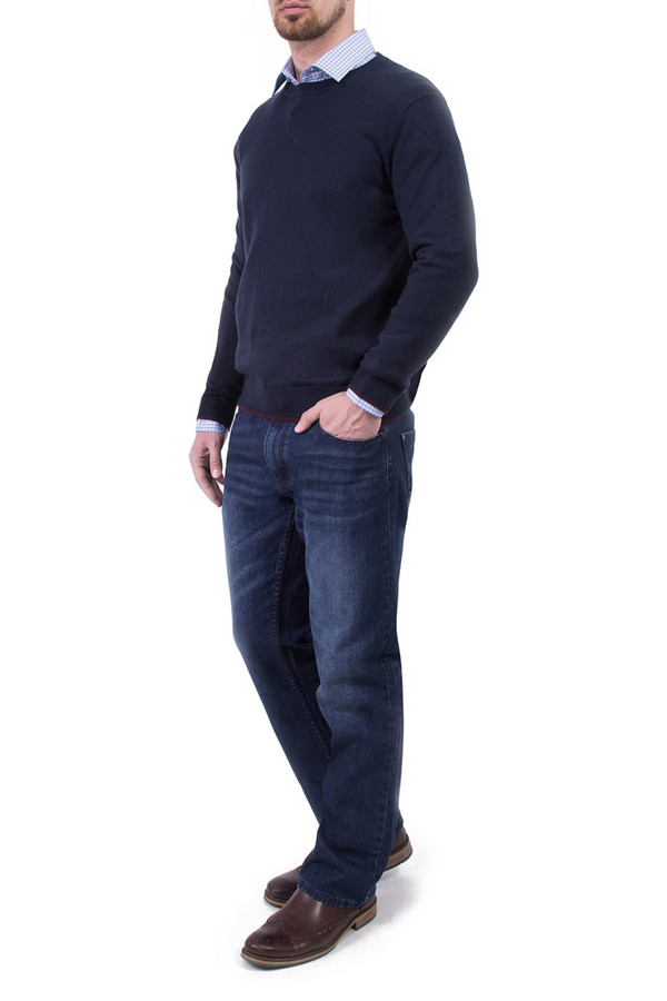 Джемпер Greg HormanДжемперы и Пуловеры<br><br><br>Размер RU: 54<br>Пол: Мужской<br>Возраст: Взрослый<br>Материал: хлопок 60%, шерсть 10%, нейлон 30%<br>Цвет: Синий
