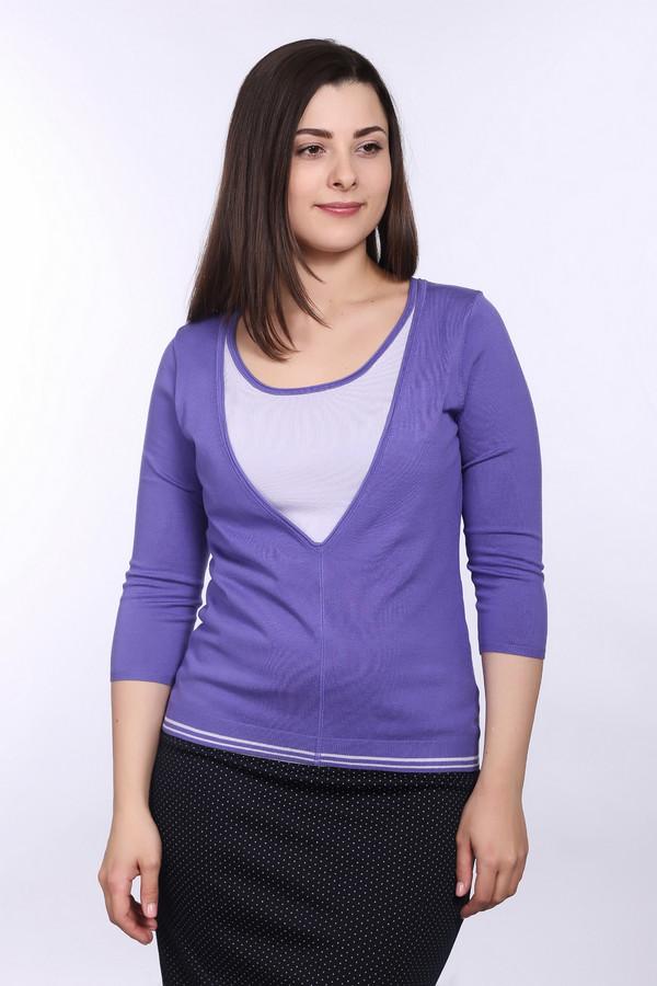 Пуловер PezzoПуловеры<br>Модный женский пуловер от бренда Pezzo. Это пуловер фиолетового цвета со вставкой сиреневого цвета на груди и двумя полосками снизу на резинке. Изделие дополнено: круглым вырезом и рукавом три четверти. Данный пуловер пошит из вискозы с добавлением нейлона.<br><br>Размер RU: 46<br>Пол: Женский<br>Возраст: Взрослый<br>Материал: вискоза 80%, нейлон 20%<br>Цвет: Разноцветный
