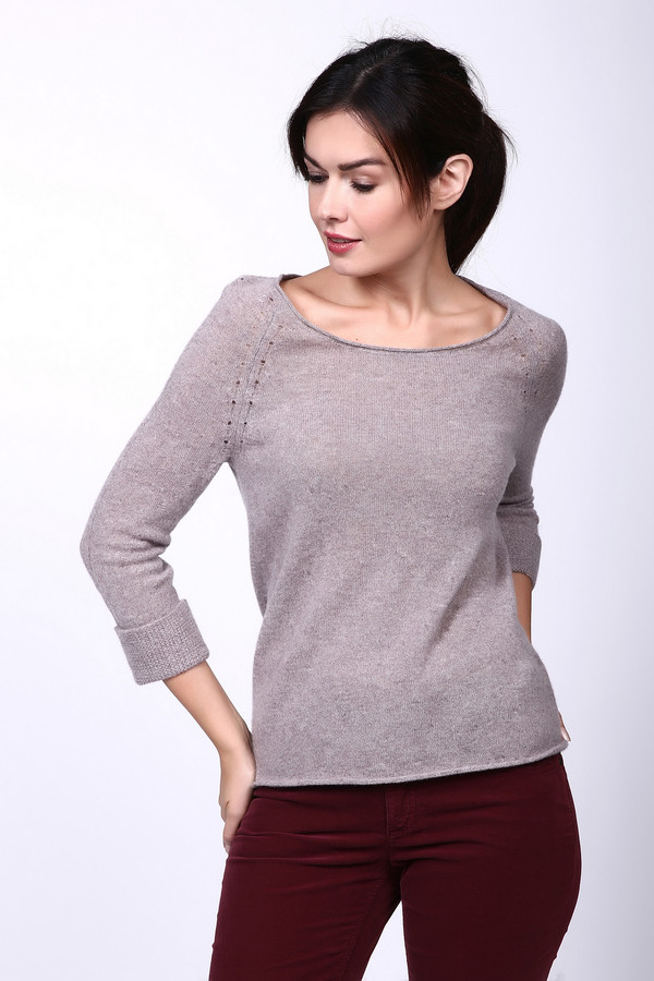 женский пуловер comma, серый
