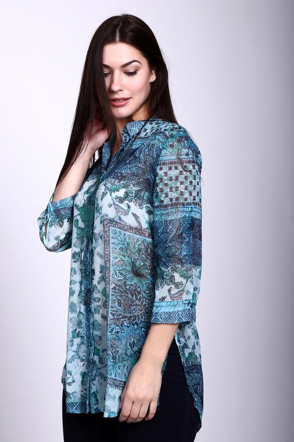 Блузa Betty BarclayБлузы<br>Блуза зеленого цвета фирмы Betty Barclay.Ткань состоит из 100% полиэстера. Модель выполнена прямым покроем. Блуза дополнена откладным воротом на стойке, застежка на пуговицы, втачным рукавом 3\4 длинны, боковыми разрезами. Низ блузы подшит полукругом. Блуза такого фасона очень пригодится в летнее время года. Гармонировать будит с облегающими брюками.<br><br>Размер RU: 44<br>Пол: Женский<br>Возраст: Взрослый<br>Материал: полиэстер 100%<br>Цвет: Разноцветный