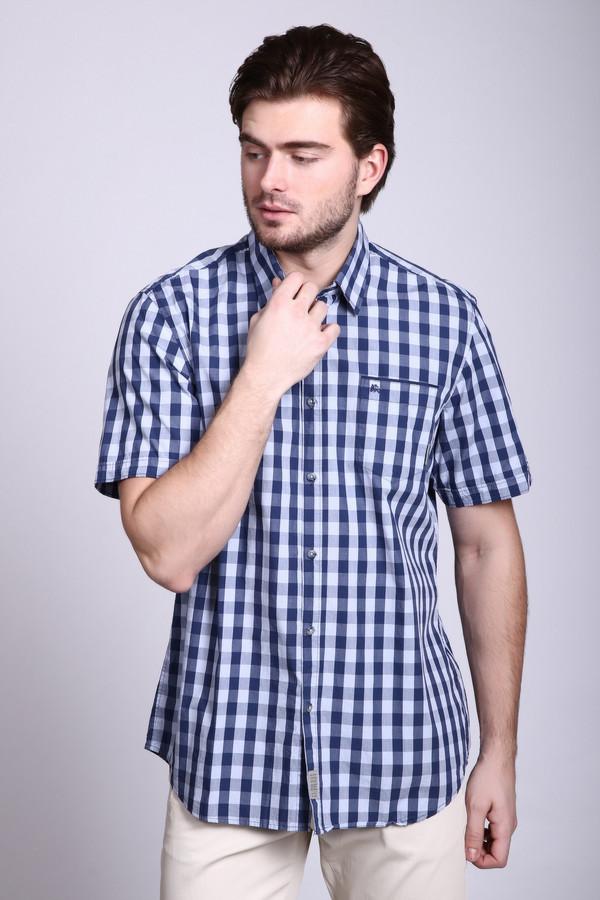 Мужские рубашки с коротким рукавом LerrosКороткий рукав<br><br><br>Размер RU: 41-42<br>Пол: Мужской<br>Возраст: Взрослый<br>Материал: хлопок 100%<br>Цвет: Синий