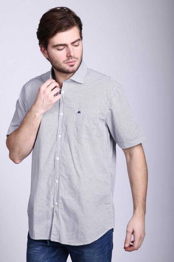 Купить Мужские рубашки с коротким рукавом Lerros, Вьетнам, Серый, хлопок 100%