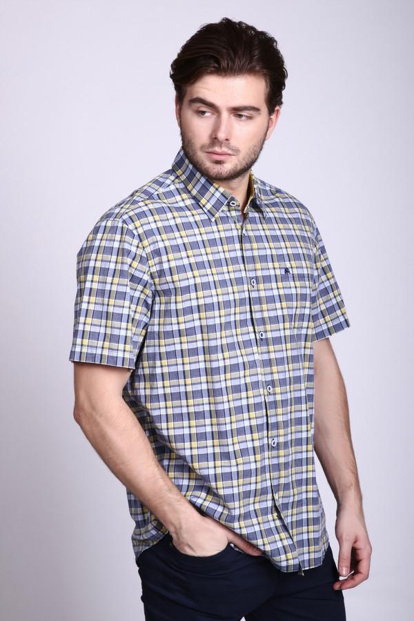 Мужские рубашки с коротким рукавом LerrosКороткий рукав<br><br><br>Размер RU: 41-42<br>Пол: Мужской<br>Возраст: Взрослый<br>Материал: хлопок 100%<br>Цвет: Разноцветный