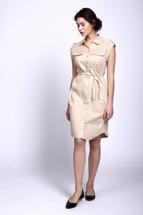 Купить Платье Oui, Китай, Бежевый, хлопок 100%