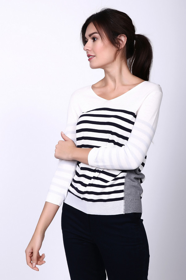Пуловер OuiПуловеры<br><br><br>Размер RU: 42<br>Пол: Женский<br>Возраст: Взрослый<br>Материал: вискоза 50%, хлопок 50%<br>Цвет: Разноцветный