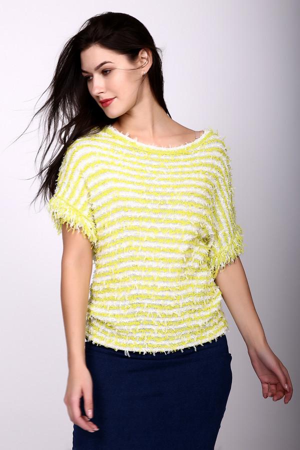 Пуловер Marc CainПуловеры<br><br><br>Размер RU: 46<br>Пол: Женский<br>Возраст: Взрослый<br>Материал: вискоза 49%, полиамид 24%, хлопок 27%<br>Цвет: Жёлтый