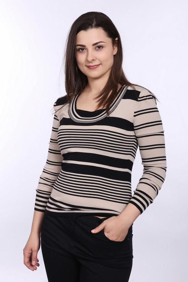 Пуловер PezzoПуловеры<br>Стильный женский пуловер фирмы Pezzo. Благодаря уникальному соотношению вискозы и нейлона в составе, данный пуловер удобный и идеально садится по фигуре. Этот пуловер представлен в бежевом цвете в черную полоску. Изделие дополнено: квадратным вырезом и длинным рукавом.<br><br>Размер RU: 46<br>Пол: Женский<br>Возраст: Взрослый<br>Материал: вискоза 65%, нейлон 35%<br>Цвет: Разноцветный