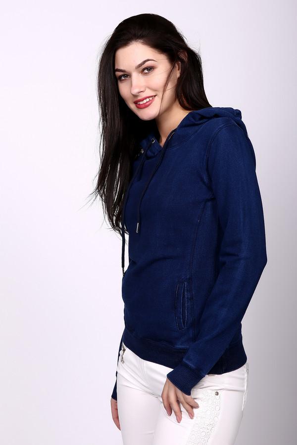 Жакет PezzoЖакеты<br>Жакет женский синего цвета от бренда Pezzo. Модель выполнена прямым фасоном. Изделие дополнено округлым воротом с капюшоном, боковыми карманами, втачными, длинными рукавами с манжетами. Ткань состоит из 96% хлопка, 4% спандекса. Комбинировать можно с различными брюками, юбками.