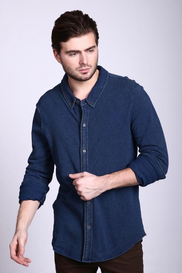 Рубашка с длинным рукавом PezzoДлинный рукав<br><br><br>Размер RU: 50<br>Пол: Мужской<br>Возраст: Взрослый<br>Материал: хлопок 100%<br>Цвет: Синий