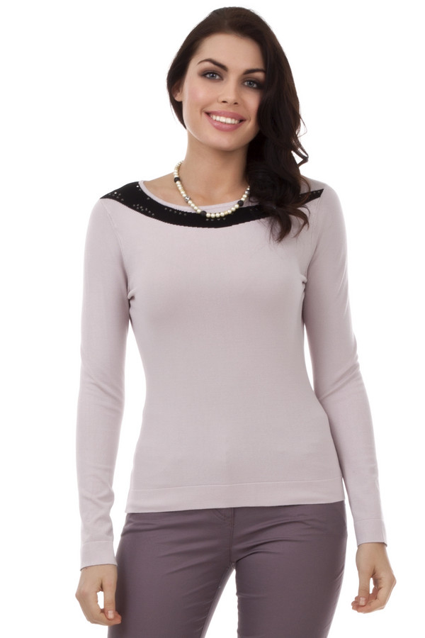Пуловер PezzoПуловеры<br>Пуловер для женщин от бренда Pezzo. Это пуловер светло-серого цвета с черной вставкой. Изделие выполнено из вискозы с добавлением нейлона. Оно дополнено круглым вырезом, длинным рукавом, а также черными квадратными стразами.<br><br>Размер RU: 54<br>Пол: Женский<br>Возраст: Взрослый<br>Материал: вискоза 80%, нейлон 20%<br>Цвет: Розовый