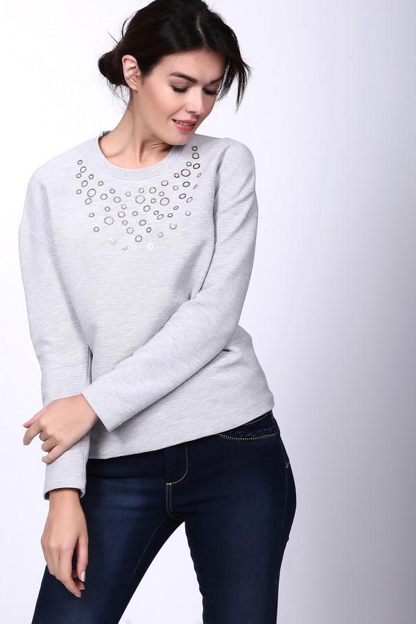 Пуловер Gerry WeberПуловеры<br><br><br>Размер RU: 46<br>Пол: Женский<br>Возраст: Взрослый<br>Материал: эластан 4%, хлопок 40%, полиэстер 56%<br>Цвет: Серый
