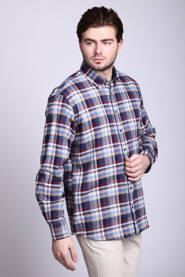 Рубашка с длинным рукавом MarvelisДлинный рукав<br><br><br>Размер RU: 39-40<br>Пол: Мужской<br>Возраст: Взрослый<br>Материал: хлопок 100%<br>Цвет: Разноцветный