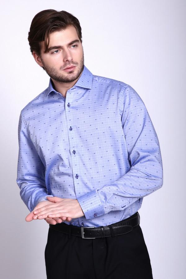 Рубашка с длинным рукавом VentiДлинный рукав<br><br><br>Размер RU: 43<br>Пол: Мужской<br>Возраст: Взрослый<br>Материал: хлопок 100%<br>Цвет: Голубой