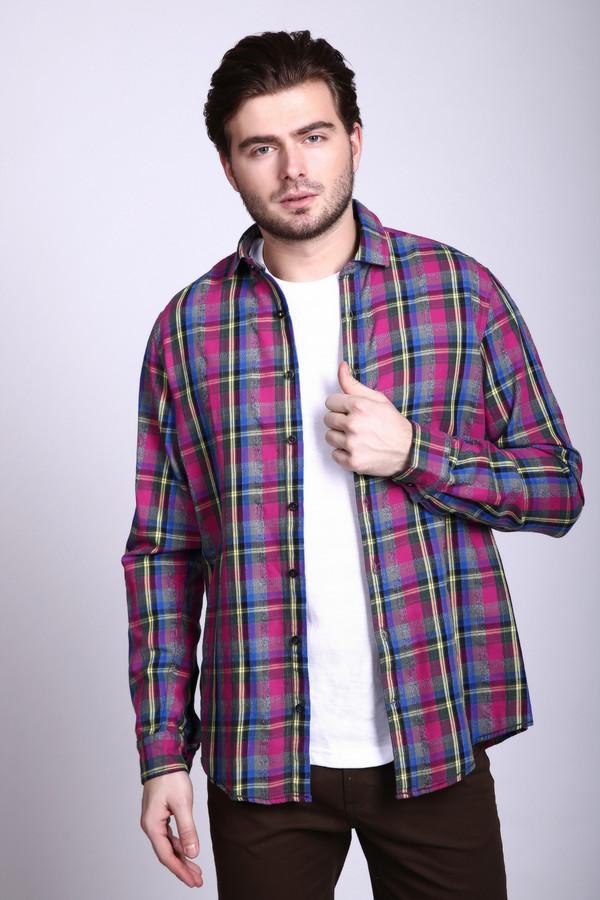 Рубашка с длинным рукавом VentiДлинный рукав<br><br><br>Размер RU: 41-42<br>Пол: Мужской<br>Возраст: Взрослый<br>Материал: хлопок 100%<br>Цвет: Разноцветный
